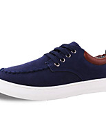 Men's Shoes Canvas Athletic Flats Athletic Sneaker Flat Heel Lace-up Black / Blue / Brown