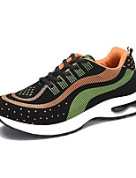 Men's Shoes Suede / Tulle Athletic Sneakers Athletic Sneaker Flat Heel Lace-up Black / Blue / Orange
