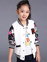 Girl's Casual/Daily Solid Suit & Blazer,Faux Fur / Cotton Winter / Spring / Fall Black / Pink
