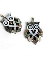 Beadia 39x53mm Natural Abalone Shell Owl Pendant (1Pc)