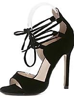 Women's Shoes Leatherette Summer Heels / Platform / Open Toe / Ankle Strap Dress Stiletto Heel Buckle