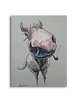 Peintures à l'huile Animal Style / Modern / Classique / Traditionnel / Réalisme / Méditerranéen / Pastoral / Style européen,Un Panneau