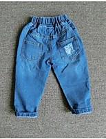 Pantalones Boy-Verano / Primavera-Algodón-Un Color