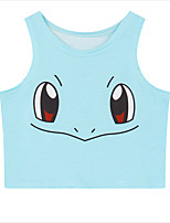 Ispirato da Pocket Monster Ash Ketchum anime Costumi Cosplay Cosplay Tops / Bottoms Con stampe Blu Senza maniche Maglia
