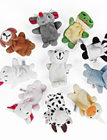 Dolls with Double Foot Finger Animal Plush Doll Baby Story