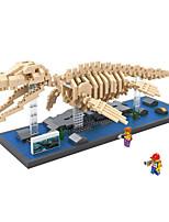 Small particles of diamond bricks dinosaur skeleton model mosasaurs