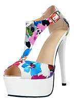Women's Sandals Summer Platform Party & Evening / Dress / Casual Stiletto Heel Buckle White