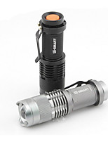LED Mini Aluminum Alloy Light Flashlight (Black, Dual, 3 Block)