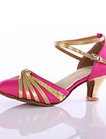 Women's Latin Silk Heels Indoor Customized Heel Blushing Pink Customizable