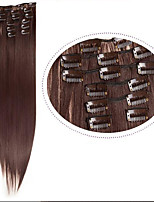 2016 New Clip in Hair Extensions 22inch 100g  Extensions #33 Auburn Full Head  7pieces Straight Hair Synthetic Hair