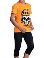 Sports Bike/Cycling Jersey + Shorts / Tops / Bottoms Men's Short Sleeve Breathable / Sweat-wicking Elastane SportS / M / L / XL / XXL /