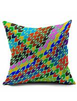 Coton/Lin Housse de coussin,Géométrique Moderne/Contemporain