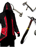 geinspireerd door Assassin's Creed Conner Anime Cosplay Kostuums Cosplay Tops / Bottoms / Wapen Vintage Rood / Blauw Lange mouwTop / Meer