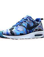 Zapatos Running Cuero Azul / Negro Hombre
