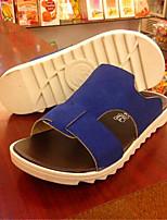 Zapatos de Hombre-Sandalias-Exterior / Deporte-Semicuero-Negro / Azul / Marrón / Gris