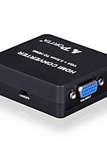 portta spetvh vga und 3,5-mm-Audio-Mini-HDMI-Konverter-Adapter für HDTV 1080p
