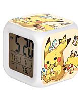 Picacho Colorful Flash Cartoon Alarm Clock-21#