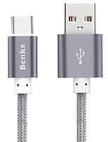 USB 2.0 Gevlochten Nylon / Aluminium Kabels 100cm