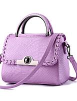 Women-Casual / Office & Career-Cowhide-Shoulder Bag-Pink / Purple / Gray / Black