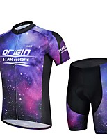 Sports Bike/Cycling Jersey + Shorts / Tops / Bottoms Men's Short Sleeve Breathable / Sweat-wicking Elastane Sport WhiteS / M / L / XL /