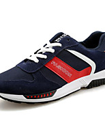 Men's Shoes Suede Athletic Flats Athletic Sneaker Flat Heel Lace-up Black / Blue / Red / Gray