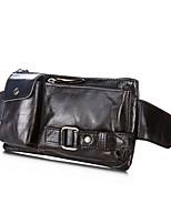 Men-Formal-PVC-Waist Bag-Brown / Red / Black