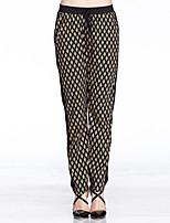 Heart Soul® Women's Mid Rise Loose Brown Casual Pants-W1J50173