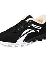 los zapatos de los hombres del ante / tul ocasional zapatillas de deporte de la manera ocasional caminando talón otros planos negro / azul