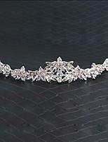 Dame Rhinsten / Legering Medaljon-Bryllup Diademer / Pandebånd 1 Stykke Sølv Rund 14
