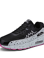 Women's Shoes PU / Tulle Flat Heel Comfort Fashion Sneakers Athletic / Casual Blue / Black and White / Fuchsia / Orange