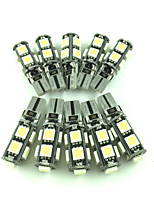 10pcs 5050 erreur canbus lumière intérieure libre t10 conduit pas d'ampoules lampes d'avertissement de coin (DC12V)