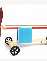 Science and technology small production model rubber band powered car