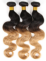 Ombre Body Wave Remy Human Hair Weft Weave Extensions 300g Natural Black To Ginger Blonde 3 Pcs/Lot 10