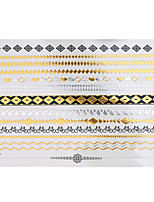 1pc Flash Metallic Waterproof Tattoo Gold Silver Bicycle Poker Bracelet Temporary Tattoo Sticker YH-066