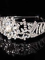 Dame Rhinestone / Krystall / Messing Headpiece-Bryllup / Spesiell Leilighet Diademer 1 Deler Klar Rund / Annerledes 19cm