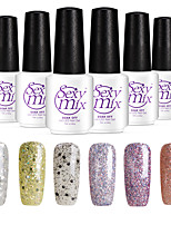 6PCS Sexymix Nail Polish Sets 7ml UV Gel Shining Color Varnish Soak off Long Lasting NO.10