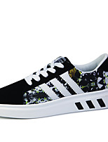 Men's Shoes Fabric Casual Walking Flat Heel Lace-up Black / Blue / Red EU39-43