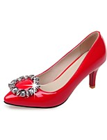 Women's Shoes Patent Leather Summer / Pointed Toe Heels Office & Career/Casual Stiletto Heel Sparkling GlitterBlack/Red