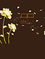 Creative DIY Gold Flower Time Wall Art Photo Stickers PVC Removable Living Room Sofa Wall Stickers