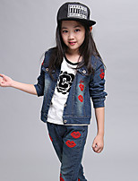 Girl's Cotton Spring/Fall Fashion Relaxation Cowboy Two-piece