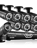 ZOSI@8CH 1080P AHD DVR 8XOutdoor 2.0MP Waterproof IR-CUT Bullet Camera Security Kit CCTV Systems
