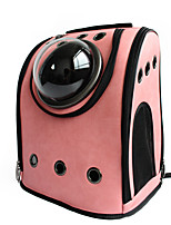 Pet Dog Astronaut Capsule Backpack Cat / Dog Carriers & Travel Backpacks Transparent Breathable PU Leather