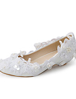 Women's Shoes Fabric Wedge Heel Wedges Heels Wedding / Party & Evening / Dress White