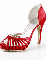 Women's Shoes Silk Stiletto Heel Heels / Peep Toe Heels Wedding / Party & Evening / DressYellow / Pink / Purple / Red