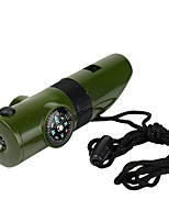 7in1 LED Light Survival Whistle Compass Thermometer Camping Emergency Safety Tools