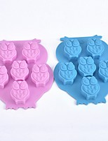 (Random color)1Pcs  Ice Cube Ice Cube Tray Soap Mold Owl Shaped Silicone Cake Mold Chocolate Mold