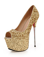 Women's Shoes  / Fall Heels / Peep Toe Heels Office & Career / Party & Evening / Casual Stiletto HeelSequin /&9-35