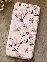 indietro Resistente agli urti Fiore decorativo TPU Morbido Shockproof Copertura di caso per AppleiPhone 6s Plus/6 Plus / iPhone 6s/6 /