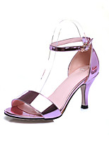Women's Shoes PU Spring / Summer / Party & Evening / Dress Stiletto Heel Slip-on Pink / Silver