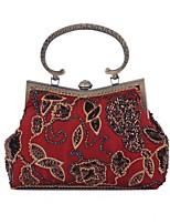 L.west Women Elegant High-grade Retro Beaded Diamonds Evening Bag